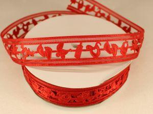 Лента декоративная, ширина 22 мм(313010), цвет: №1 красный (бобина 20+-0,3 ярдов)