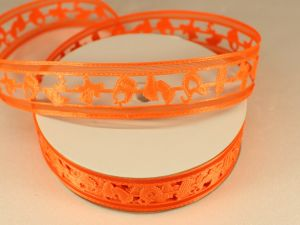 Лента декоративная, ширина 22 мм(313010), цвет: №9 оранжевый (бобина 20+-0,3 ярдов)
