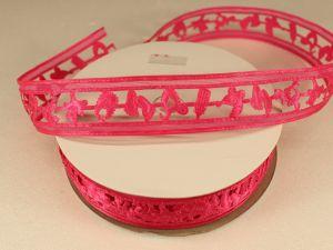 Лента декоративная, ширина 22 мм(313010), цвет: №10 ярко-розовый (бобина 20+-0,3 ярдов)