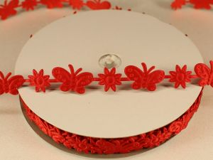 Лента декоративная, ширина 15 мм(213098), цвет: №6 красный (бобина 20+-0,3 ярдов)