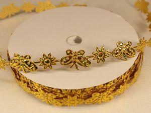 Лента декоративная, ширина 15 мм(213098), цвет: №8 золото (бобина 20+-0,3 ярдов)
