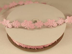Лента декоративная, ширина 15 мм(213098), цвет: №13 светло-розовый (бобина 20+-0,3 ярдов)