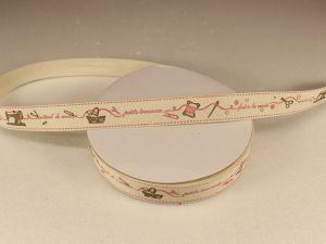 Лента хлопковая, ширина 15 мм(614010), цвет: №1 швейная машинка (бобина 20+-0,3 ярдов)