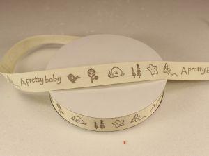 Лента хлопковая, ширина 15 мм(614033), цвет: №1 a pretty baby (бобина 20+-0,3 ярдов)