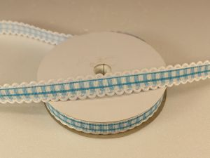 `Лента декоративная, ширина 15 мм(213011), цвет: №3 морская волна
