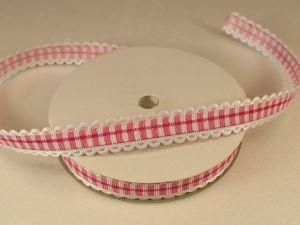 `Лента декоративная, ширина 15 мм(213011), цвет: №4 ярко-розовый