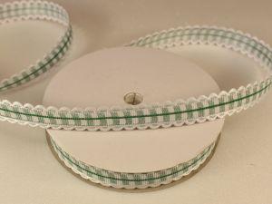 `Лента декоративная, ширина 15 мм(213011), цвет: №8 зеленый