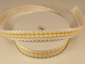 `Лента декоративная, ширина 15 мм(213011), цвет: №9 желтый