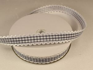 `Лента декоративная, ширина 15 мм(213005), цвет: №4 серый