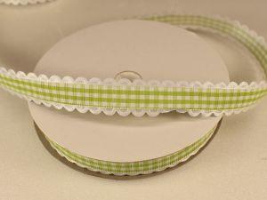 `Лента декоративная, ширина 15 мм(213005), цвет: №8 зеленый