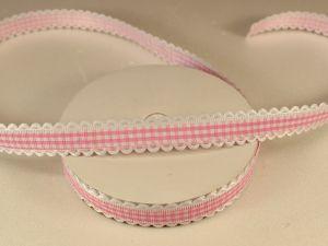 `Лента декоративная, ширина 15 мм(213005), цвет: №10 розовый