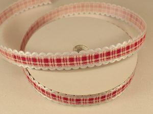 `Лента декоративная, ширина 15 мм(213035), цвет: №2 ярко-розовый