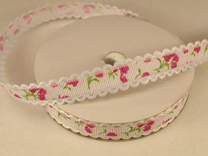 `Лента декоративная, ширина 15 мм(213014), цвет: №4 ярко-розовый