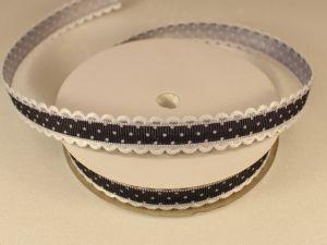 `Лента декоративная, ширина 15 мм(213043), цвет: №6 черный