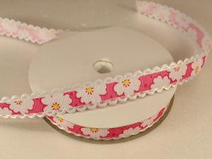 `Лента декоративная, ширина 15 мм(213020), цвет: №1 ярко-розовый