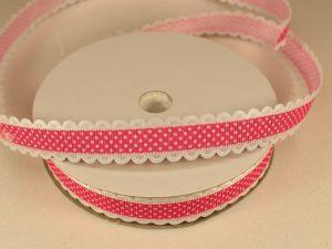 `Лента декоративная, ширина 15 мм(213109), цвет: №4 ярко-розовый