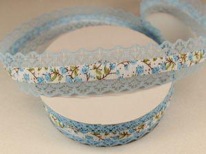 `Лента декоративная, ширина 28 мм(313114), цвет: №8 голубой