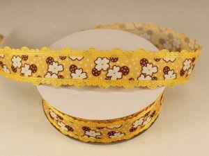 `Лента декоративная, ширина 25 мм(313088), цвет: №6 желтый