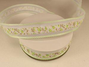 `Лента декоративная, ширина 25 мм(313105), цвет: №5 светло-зеленый