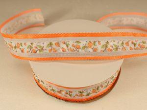 `Лента декоративная, ширина 25 мм(313105), цвет: №7 оранжевый