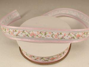 `Лента декоративная, ширина 25 мм(313105), цвет: №9 светло-розовый