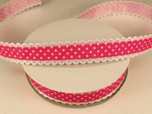 `Лента декоративная, ширина 20 мм(213046), цвет: №2 ярко-розовый