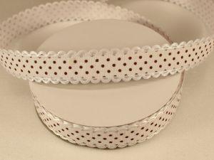 `Лента декоративная, ширина 20 мм(213046), цвет: №6 бело-коричневый