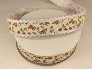 `Лента декоративная, ширина 25 мм(313077), цвет: №2 розово-сиреневый