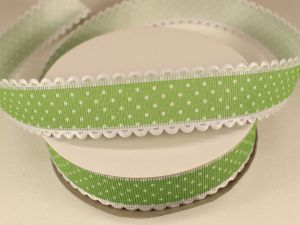 `Лента декоративная, ширина 25 мм(313072), цвет: №8 зеленый