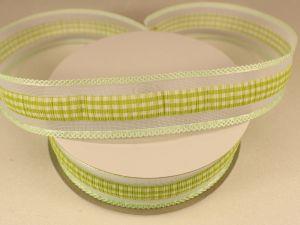 `Лента декоративная, ширина 25 мм(313101), цвет: №8 зеленый