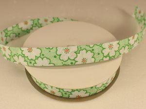 `Лента декоративная, ширина 15 мм(213052), цвет: №1 зеленый