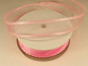`Лента декоративная, ширина 25 мм(313064), цвет: №5 розовый