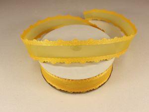 `Лента декоративная, ширина 25 мм(313008), цвет: №8 желтый