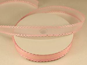 `Лента декоративная, ширина 15 мм(213002), цвет: №9 светло-розовый