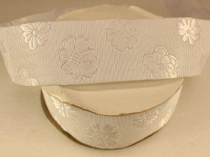 `Лента декоративная, ширина 35 мм(413045), цвет: №4/1 белый