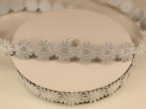 `Лента декоративная, ширина 18 мм(213069), цвет: №4 серебро