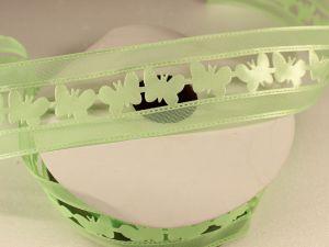 `Лента декоративная, ширина 38 мм(413006), цвет: №3 зеленый