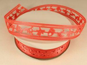 `Лента декоративная, ширина 22 мм(313010), цвет: №8 коралловый