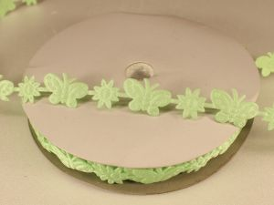 `Лента декоративная, ширина 15 мм(213098), цвет: №1 зеленый