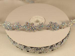 `Лента декоративная, ширина 15 мм(213098), цвет: №12 серебро