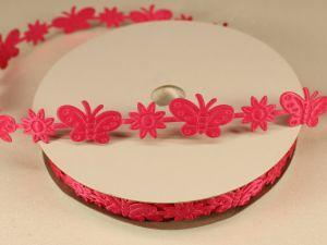 `Лента декоративная, ширина 15 мм(213098), цвет: №15 ярко-розовый