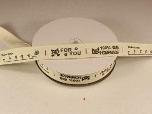 `Лента хлопковая, ширина 15 мм(614017), цвет: №1 home made