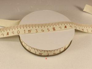 `Лента хлопковая, ширина 15 мм(614015), цвет: №1 линейка