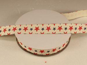 `Лента хлопковая, ширина 15 мм(614036), цвет: №1 звезды