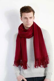Роскошный большой плотный шарф, высокая плотность, 100 % драгоценный кашемир , Ежевичная расцветка  Boysenberry (премиум)