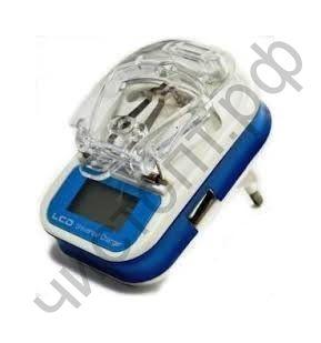 СЗУ универсальная (всех типов АКБ сот.телеф.) ( ЕВРО ВИЛКА ) Лягушка автомат с USB выходом и диспл.