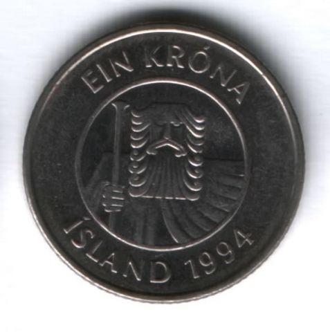 1 крона 1994 г. Исландия
