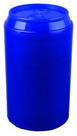 Набор: 4 стакана на 125 мл в футляре в виде жестяной банки с открывалкой, синий (арт. 829412)