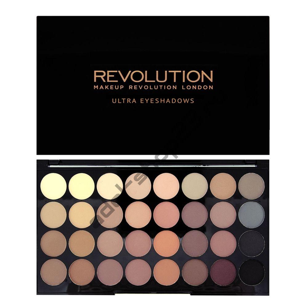 "MakeUp Revolution - Тени для век ""Ultra 32 Shade Eyeshadow Palette - Flawless Matte"""