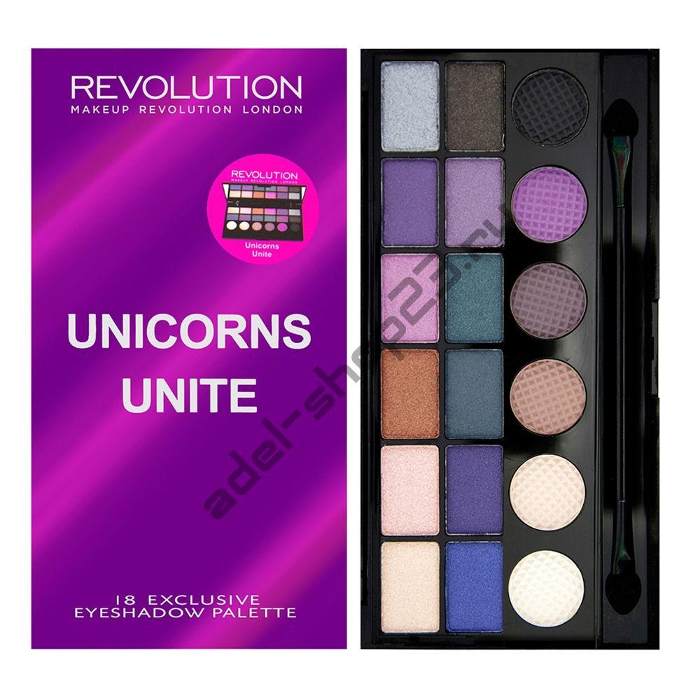 "MakeUp Revolution - Тени для век ""Salvation Palette - Unicorns Unite"""